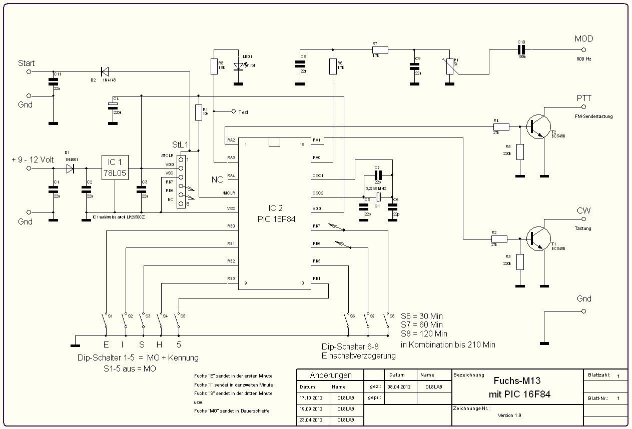 Spannungsreglung, Prozessor, Taststufen und Modulationsausgang