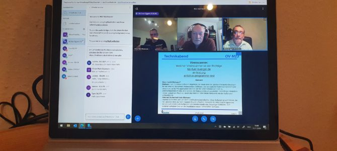 Erster OV-Onlinetreff am 11.11.2020 – Rückblick